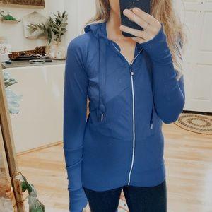 Lululemon Deep Blue Zip Up Workout Jacket